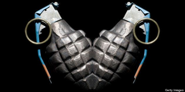 Grenade mirrored to look like a