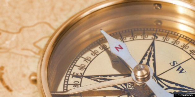 ancient compass on the