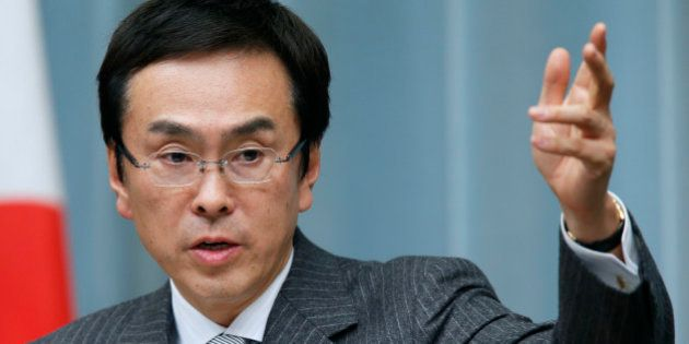 Nobuteru Ishihara, Japan's newly appointed environment minister, speaks during a news conference at the...
