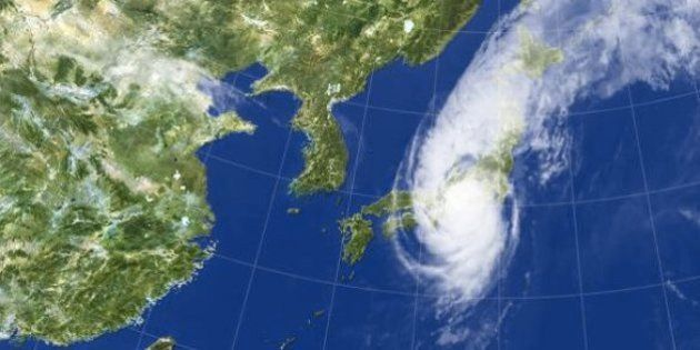 台風18号が日本上陸