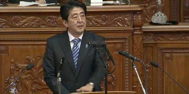 安倍首相「成長戦略の実行が問われる国会です」力強く所信表明