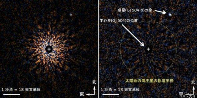 すばる望遠鏡で約60光年離れた太陽系外の「見えない惑星」観測成功