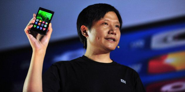 BEIJING, CHINA - SEPTEMBER 05: (CHINA OUT) Xiaomi CEO Lei Jun attends the launch of the new Xiaomi smartphone...