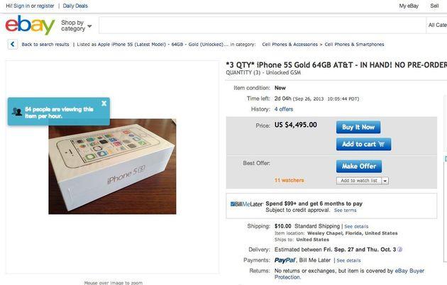1万ドルで売れる「ゴールドの新iPhone」