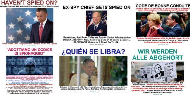 世界35カ国首脳の通話を盗聴していたアメリカ諜報機関に世界中から批難の嵐/ハフィントン・ポスト各国版 本日のスプラッシュ
