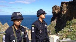 竹島で韓国が軍事訓練