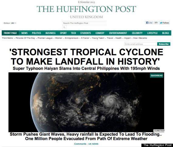 台風30号「観測史上最大規模」フィリピン中部を今朝直撃/ ハフィントンポスト各国版 本日のスプラッシュ