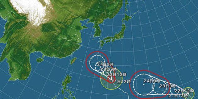 台風28号が発生