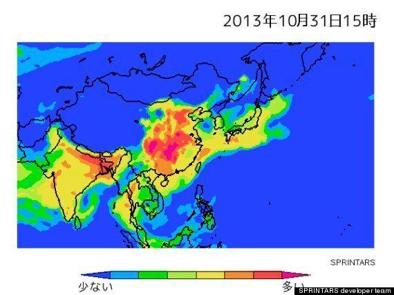 PM2.5、日本の広範囲へ飛来か 31日午後から11月1日・2日にかけて