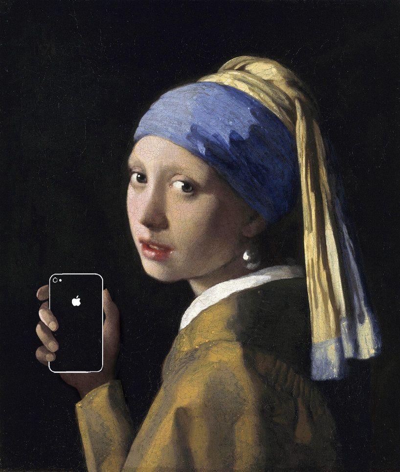 有名な絵画にピッタリはまった、現代のガジェット