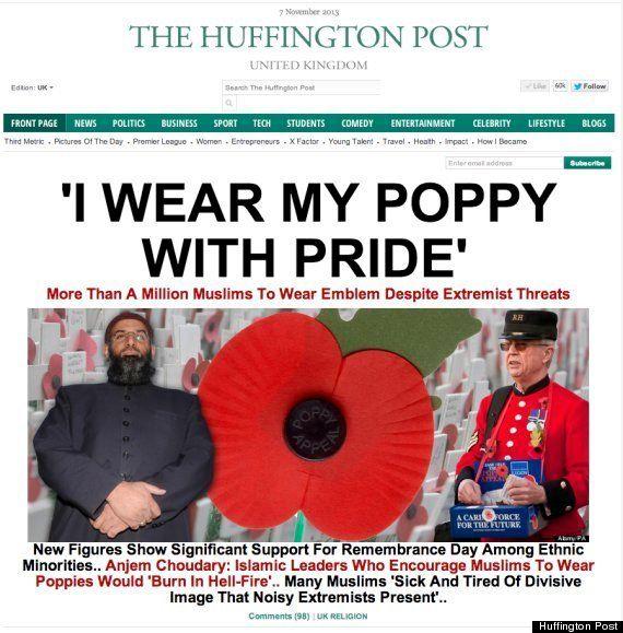 イギリスの休戦記念日につける追悼の「ポピー」、イスラム教徒はどうする? / ハフィントンポスト各国版 本日のスプラッシュ