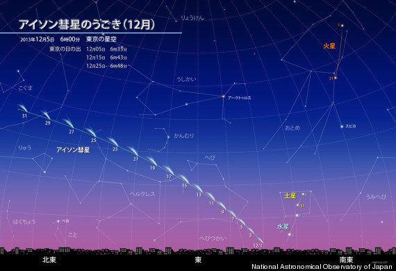 アイソン彗星、接近まで残りわずか
