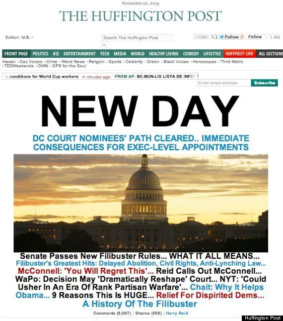 通称「核の選択肢」をついに行使 アメリカ上院が議事妨害のルール変更 /