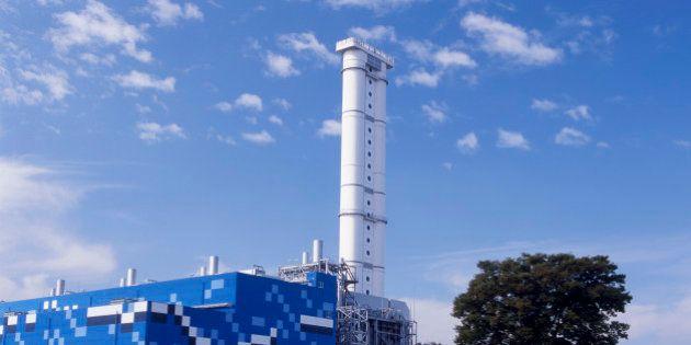 NAGOYA, JAPAN - OCTOBER 01: A general view of Shin Nagoya Thermal Power Station on October 1, 2008 in...