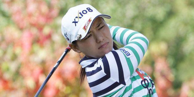 SHIMA, JAPAN - NOVEMBER 08: Sakura Yokomine of Japan hits a tee shot during the first round of the Mizuno...