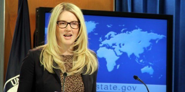 WASHINGTON DC, USA - DECEMBER 12: State Department Spokesperson Marie Harf answering the journalists...
