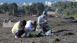 伊豆大島、献花台を設置 帰省する人たちが手を合わせる場所に