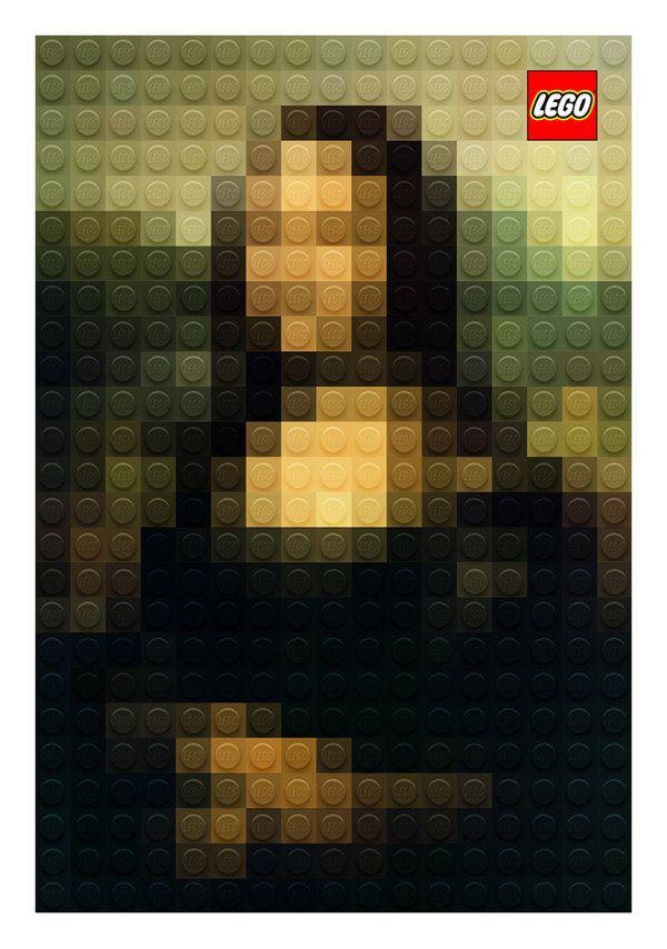 なぜかモナ・リザだとわかるレゴアート