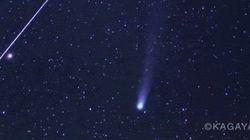 「流星痕」も出現 ふたご座流星群と共演するラブジョイ彗星