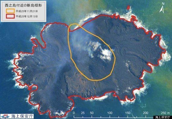 小笠原の「新島」成長しすぎて西之島と合体も【動画】