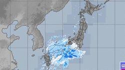 東京でも初雪か 12月18日昼前から
