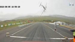 監視カメラが捉えた飛行機墜落の瞬間【動画】
