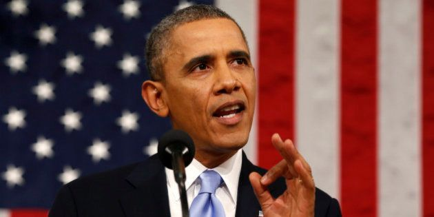 U.S. President Barack Obama delivers the State of the Union address to a joint session of Congress at...