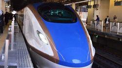 北陸新幹線の新型車両「E7系」試乗会