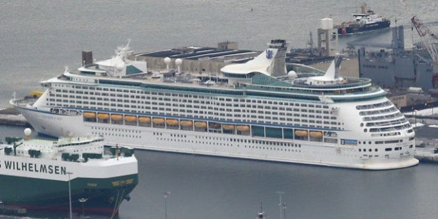 BAYONNE, NJ - JANUARY 31: The Royal Caribbean cruise ship 'Explorer of the Seas' sits in port after more...