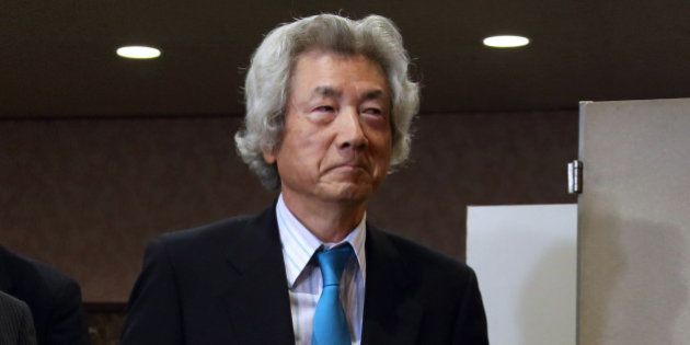 Junichiro Koizumi, former Japan prime minister, arrives for a news conference at the Japan National Press...