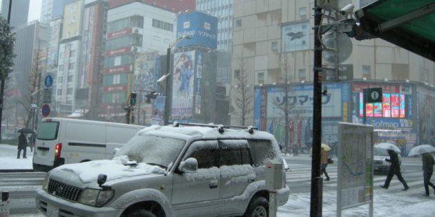 大雪警報、東京では13年ぶり 列島各地で積雪