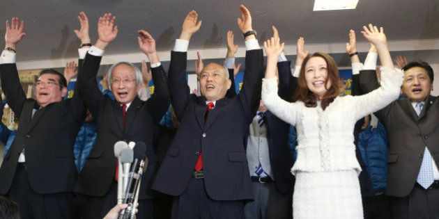 舛添要一氏が当選