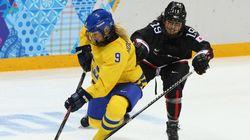 アイスホッケー女子、日本がスウェーデンに惜敗