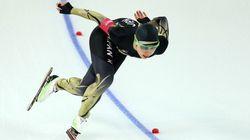 小平はメダル逃す、スケート女子500mで5位