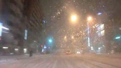 大雪の日に運転席から見えた風景が怖い【動画】