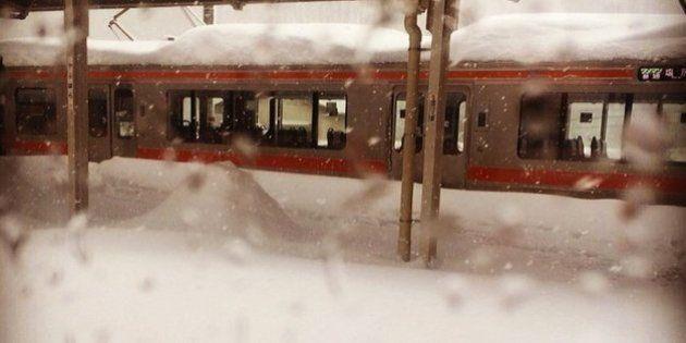 ワイドビューしなの24号、大雪で立ち往生し34時間かかって名古屋に。乗客は車中で2泊