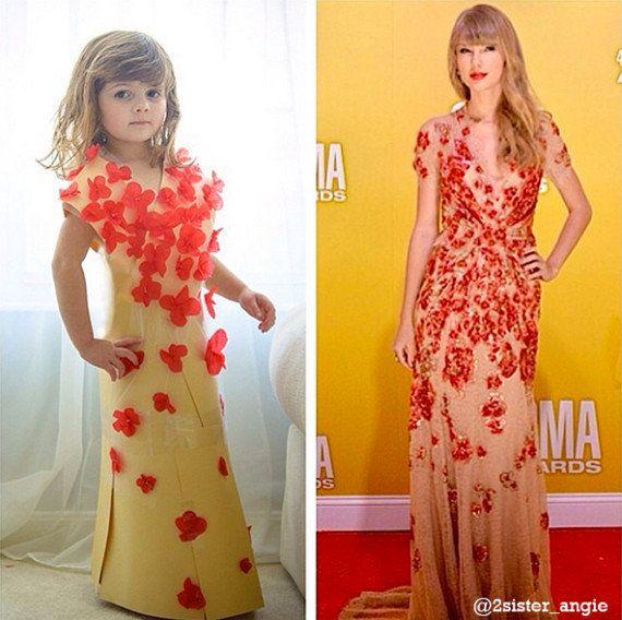 4歳の女の子がお母さんと作った紙のドレスが「かわいい!」【画像】