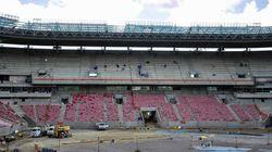 ブラジルワールドカップ、日本戦の会場が建設途中に火事
