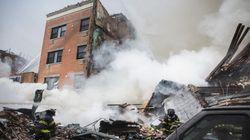 ニューヨークでガス漏れ爆発か 3人死亡、けが人60人以上