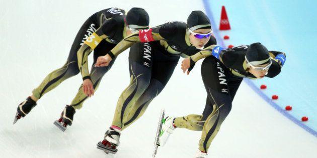 スピードスケート女子団体パシュート、日本は4位