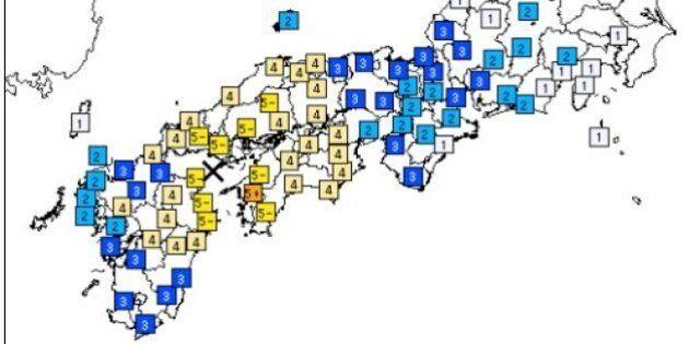 愛媛で震度5強、気象庁「1週間は余震に注意を」