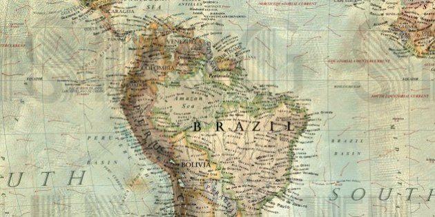 【地図で見る】海面が80m上昇すると世界はこうなる