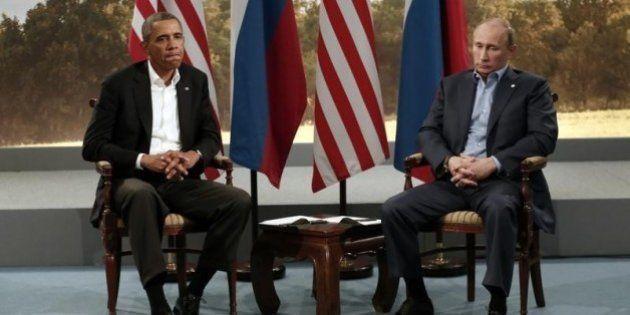 オバマ大統領、ロシアのウクライナ分離派支援に懸念 プーチン氏と電話会談