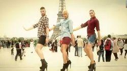 ハイヒール男3人、パリの街を踊る【動画】