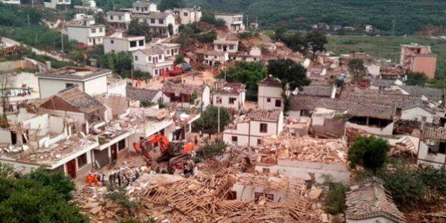 中国・雲南省で地震、367人死亡
