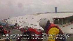 韓国船沈没、救助を待つ高校生が見殺しにされるまでを再現【動画】