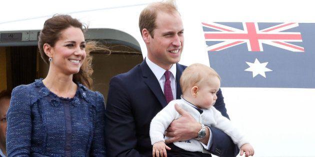 WELLINGTON, NEW ZEALAND - APRIL 16: Catherine, Duchess of Cambridge, Prince William, Duke of Cambridge...