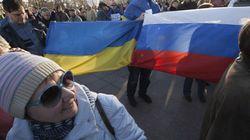 クリミア議会が独立宣言 ウクライナから離れてロシア編入めざす