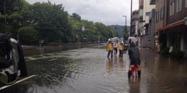 五山の送り火、京都市で猛烈な雨も「実施予定」 近畿各地で大雨