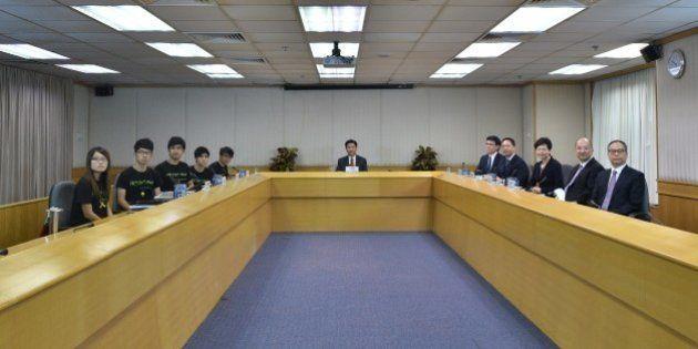 CORRECTS NAMES OF HONG KONG STUDENT LEADERSLeaders of the Hong Kong Federation of Students (L-R) Yvonne...
